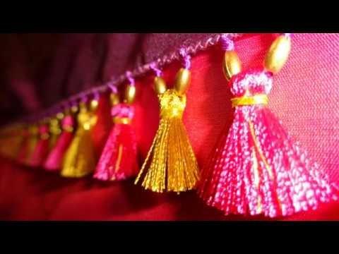 Kuchu design on saree #1. How to make saree kuchu
