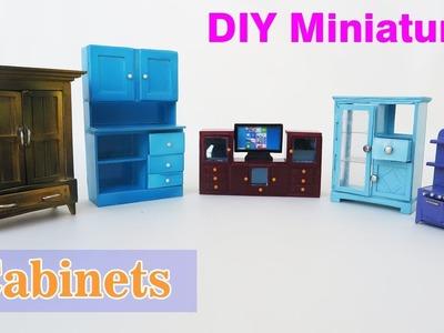 Miniature Furniture - 5  Easy  DIY Miniature Cabinets . Dollhouse