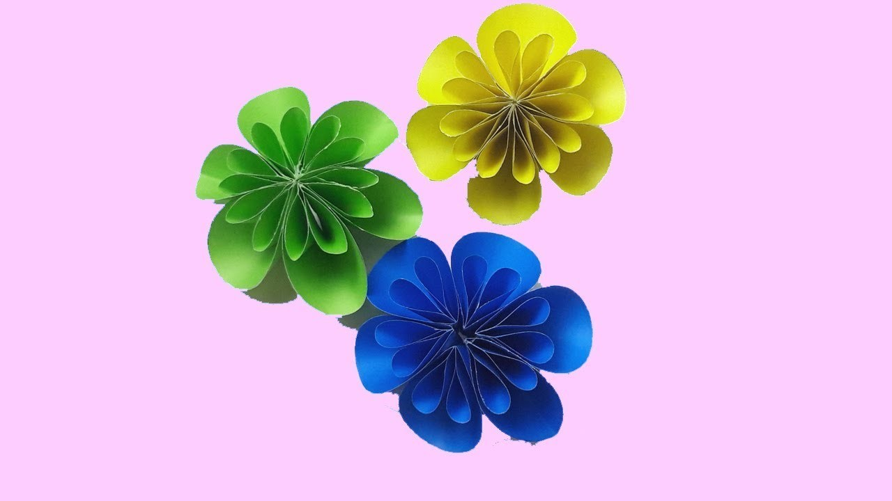 Origami Easy Paper Flowers Tutorials L How To Fold Diy Origami