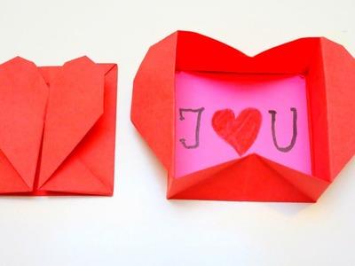 Origami Heart Box | Valentine's Day Crafts | EMMA DIY #17
