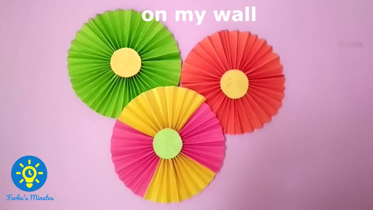 Paper Rosettes Diy Crafts Party Wall Decoration New Year
