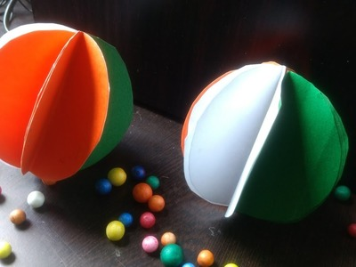 Republic day Decorations| DIY Tricolor Paper Ball| Easy kids Crafts