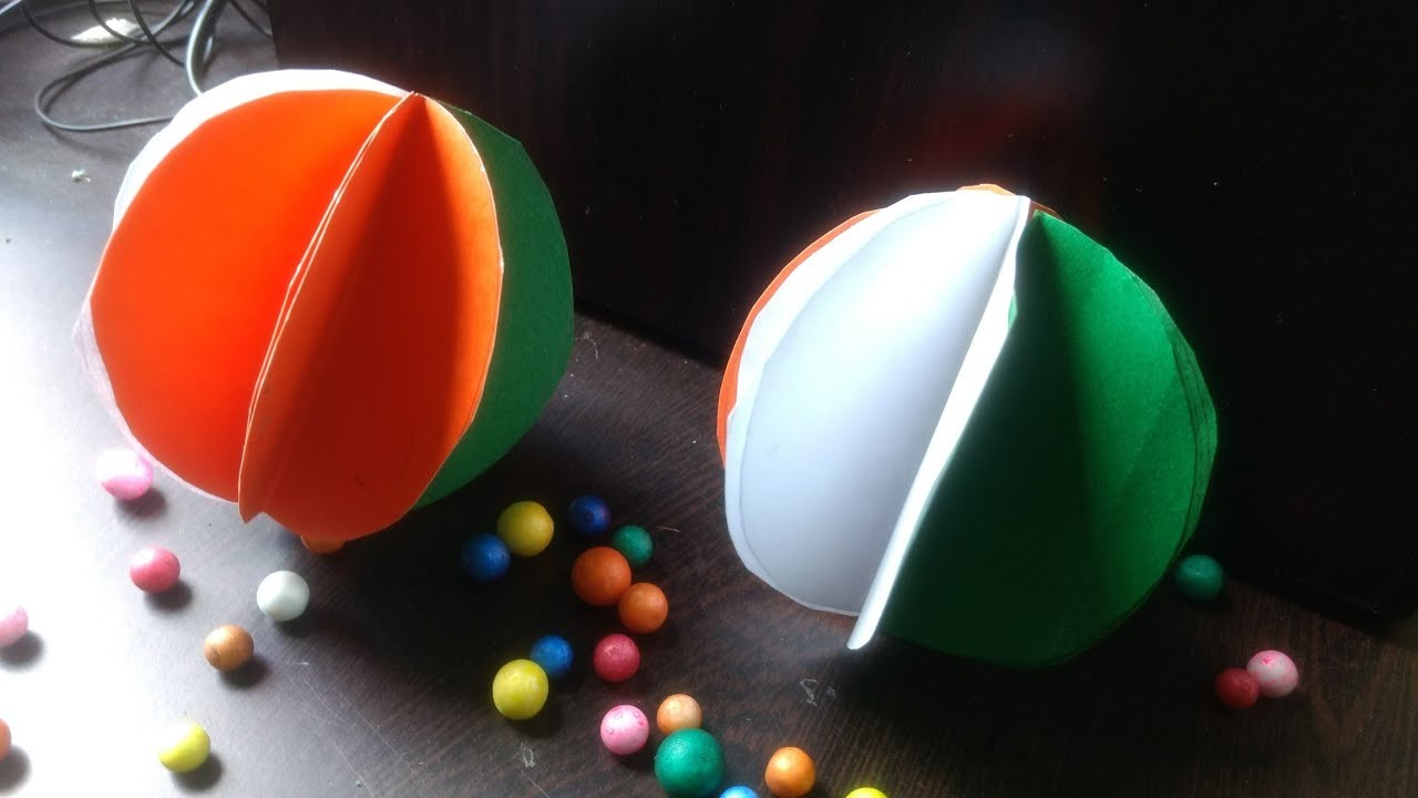 Republic Day Decorations Diy Tricolor Paper Ball Easy Kids Crafts
