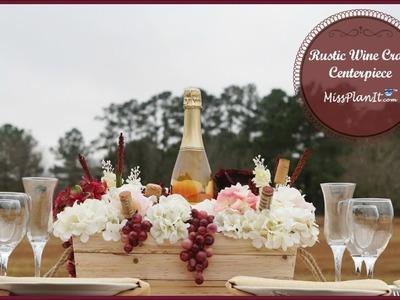 Rustic Wine Crate Wedding Centerpiece | DIY Rustic Wedding | DIY Tutorial