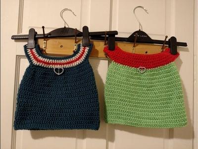 Simple Crochet Baby Dress.உல்லன் பேபி ட்ரெஸ் Tutorial for Absolute Beginners