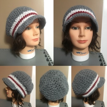 Sock Monkey Newsboy Beanie