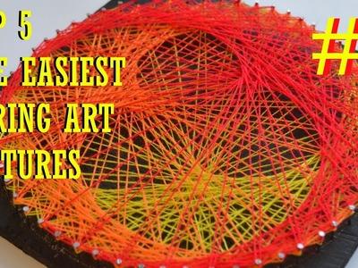 TOP 5 THE EASIEST STRING ART #3 | GOLDEN LOTUS | DIY TUTORIAL