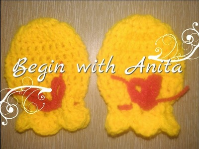 Tutorial 18-  how to crochet mittens.gloves  for newborn baby  in hindi.beginners.DIY