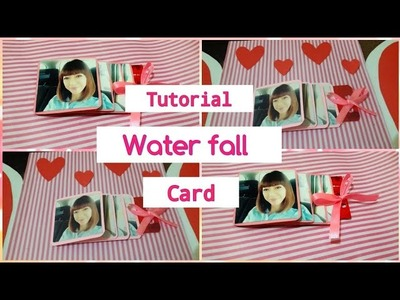 Tutorial | waterfall card for explosion box | easy diy | bahasa indonesia