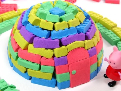 DIY How To Make Kinetic Sand Rainbow Igloo House | Learn Colors for kids