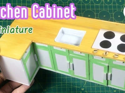 DIY Miniature Kichen Cabinets | How to make a Miniature Kitchen Cabinet