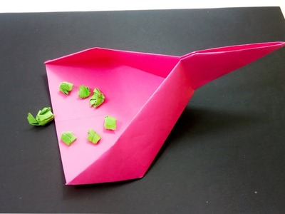 Easy Origami Dustpan - How to make a Origami Dustpan with paper - Creative Paper Craft