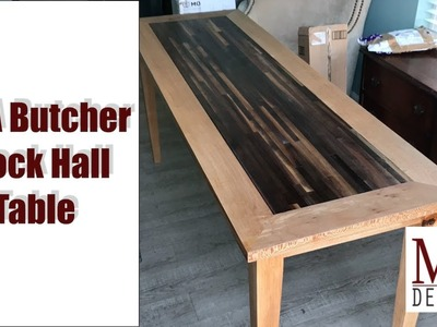 Hall Table from Walnut and Sycamore. Woodworking How To