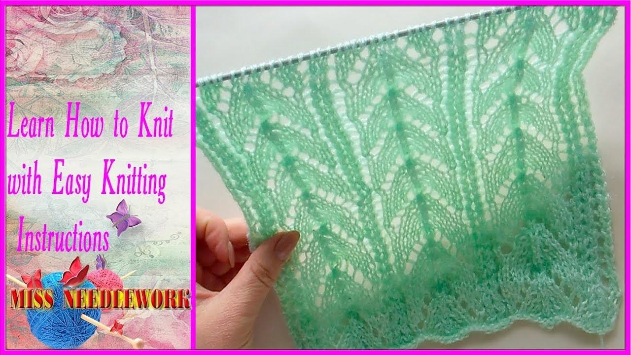 Stitch, Horseshoe lace stitch, Lace Knitting, Horseshoe lace stitch ...