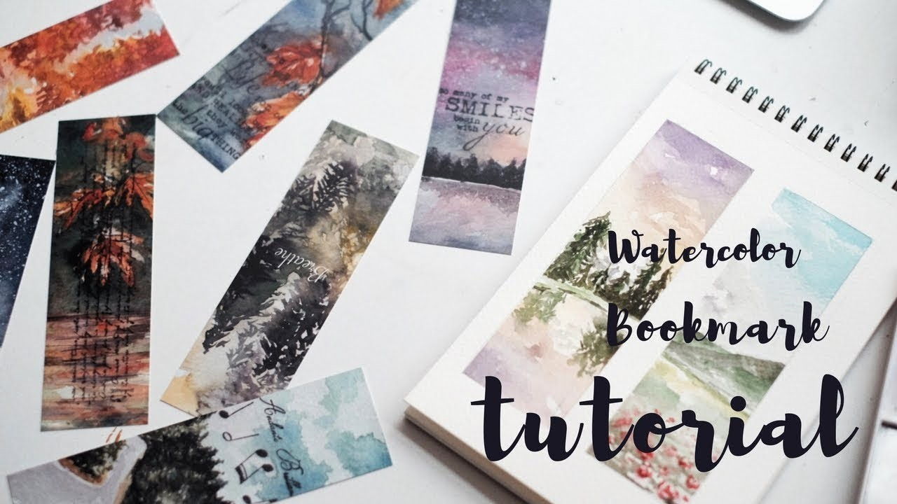 How I make my watercolor bookmarks. Tips+Process