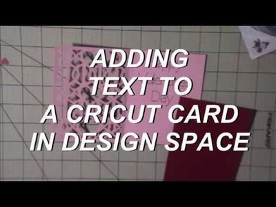 How to add text to a cricut card in design space