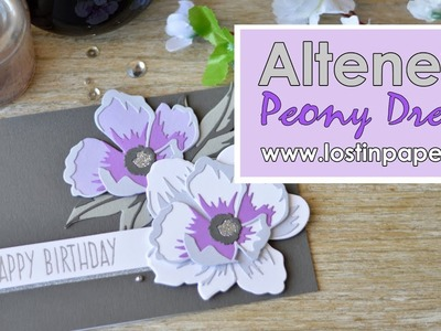 How to Assemble the Peony Dream 3D Die from Altenew - Released January 2018!