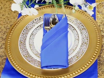 How to Create a Diagonal Pocket Napkin Fold