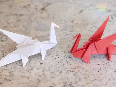 How to Create a Red Origami Dragon