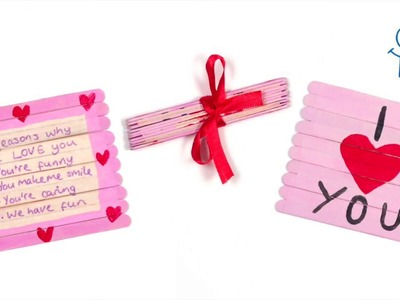 How To Create A Valentine Folding Pop Stick Card