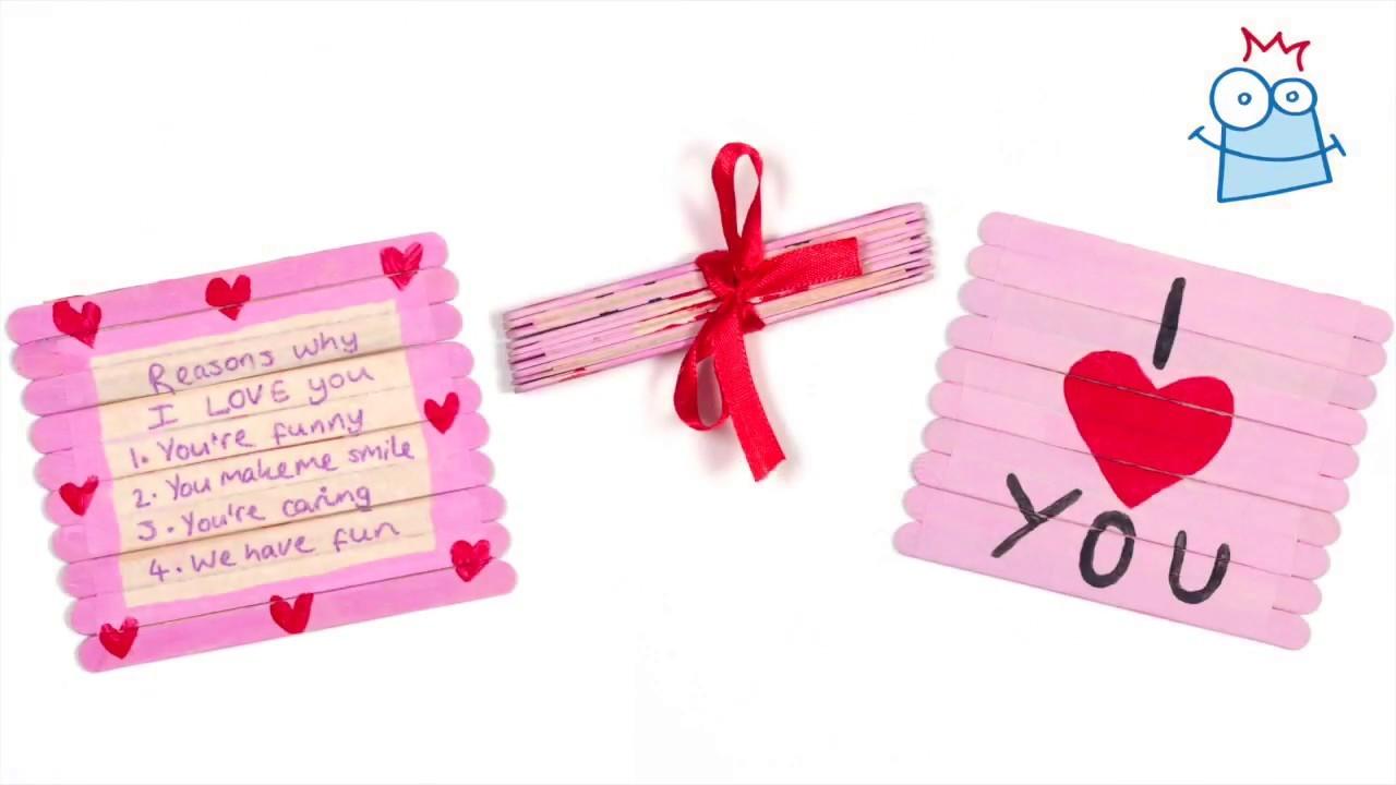 How To Create A Valentine Folding Pop Stick Card