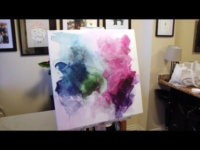 How to Create an Abstract Acrylic Painting using a Catalyst Wedge & Flat Brush (Timelapse)