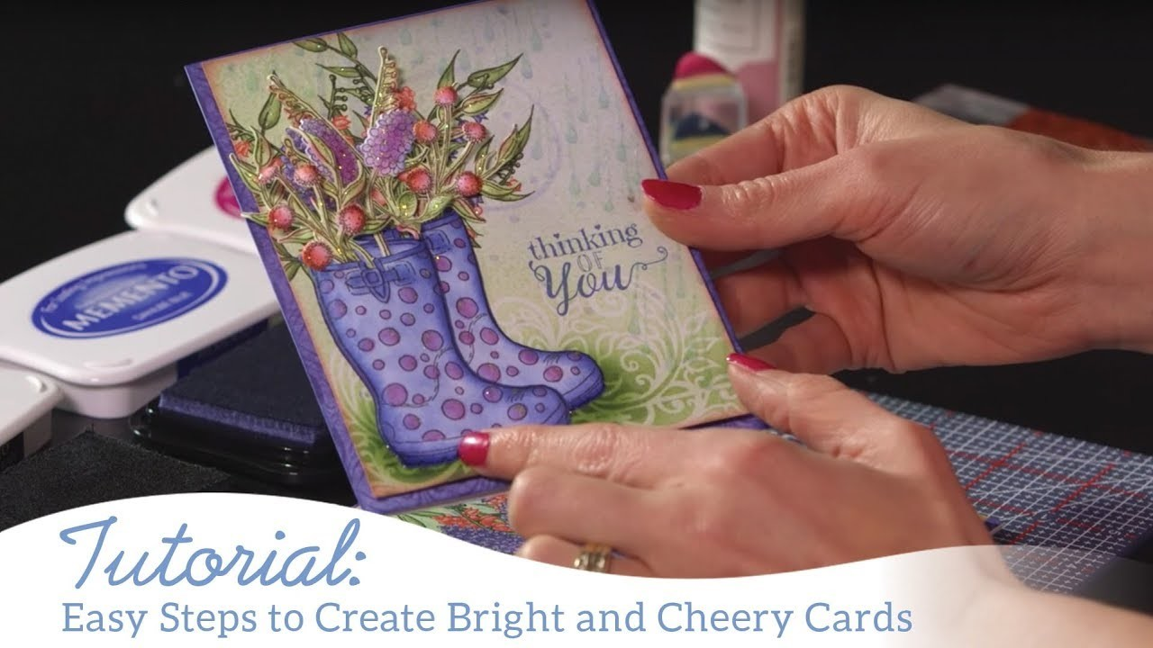 How to Create Bright and Cheery Cards using the Singing In The Rain Collection
