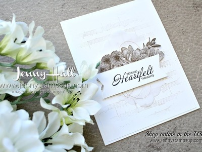 How to create mood on a handmade card using Stampin Up products with Jenny Hall