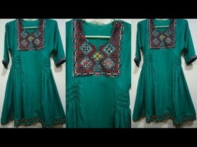 How to cut and stitch pathani  frock.cutting and stitching full tutorial