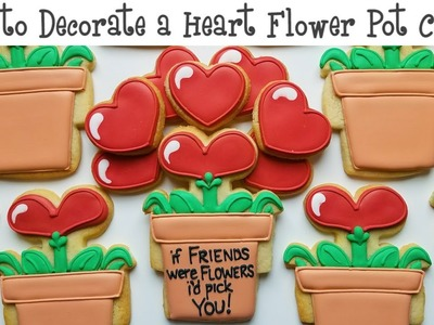 How to Decorate a Heart Flower Pot Cookie
