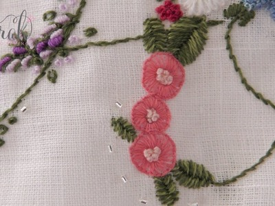 How to embroider a Button Stitch Flower | Detailed visuals and concise tutorial