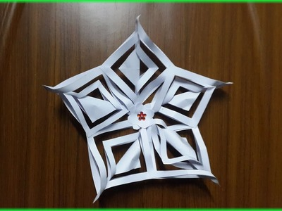 How to make 3D Paper Snowflake or Flower