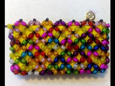 How to make a beaded beti bag.amazing hand bag.part:2