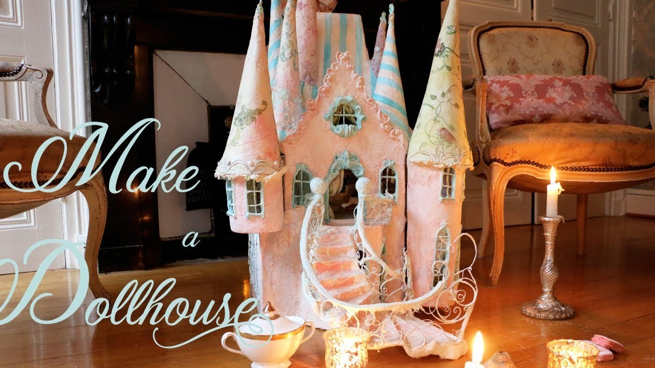 HOW TO MAKE A DOLLHOUSE  - Workshop    Merveilles en Papier