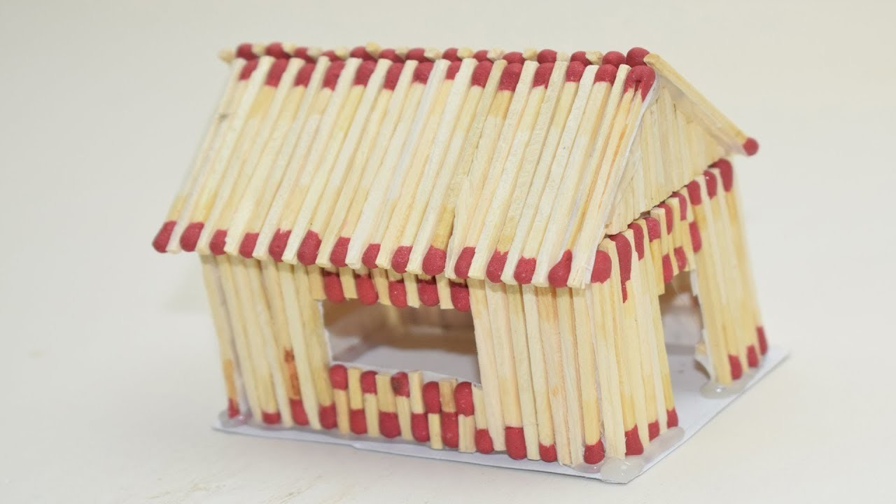 How To Make A Match House with different idea |Match Stick Creations Making an match house at home|