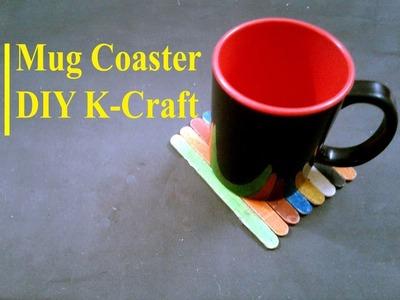 How to make a nice mug coaster by ice cream sticks | DIY K Craft