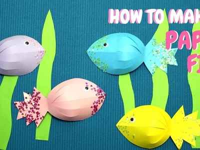 How to Make a Paper Fish | Paper Crafts for Kids