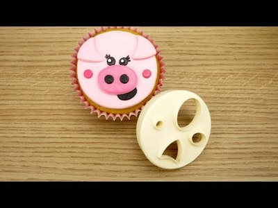 How To Make A Sugar Pig Using The FMM Mix 'n' Match Face Cutter