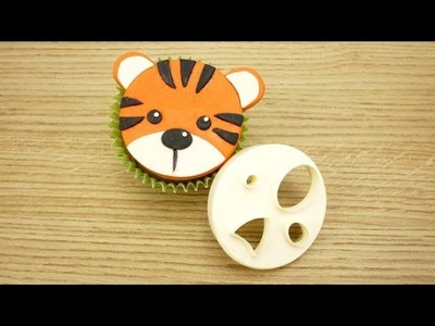 How To Make A Sugar Tiger Using The FMM Mix 'n' Match Face Cutter
