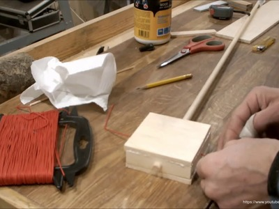 How to Make a Toy Chinese Rattle - Pellet Drum - Woodworking Musical Project