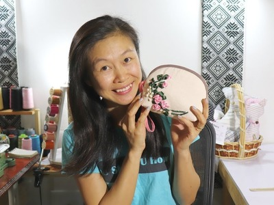 How to Make an Embroidered, Zippered Pouch