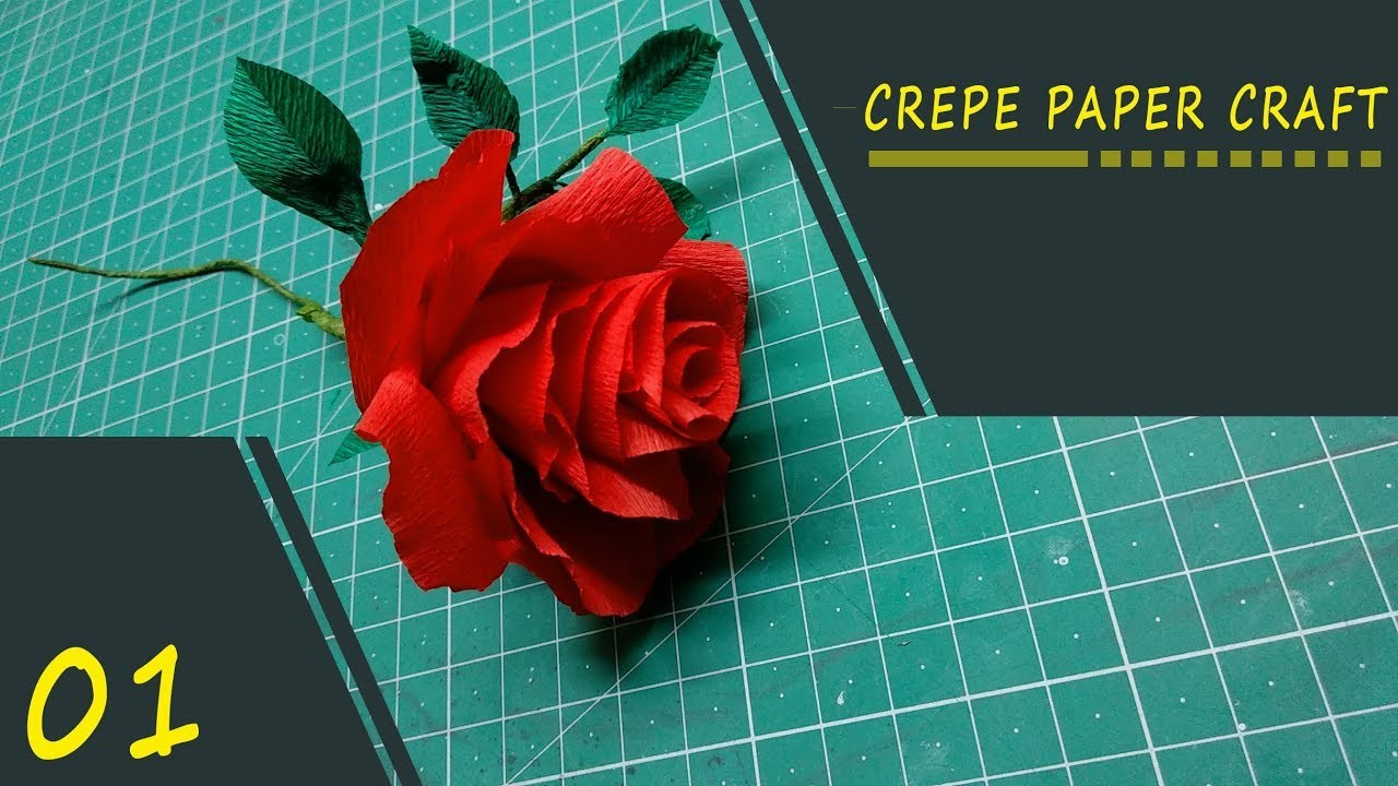 How to make artificial flowers with crepe paper  (DIY crepe paper rose)