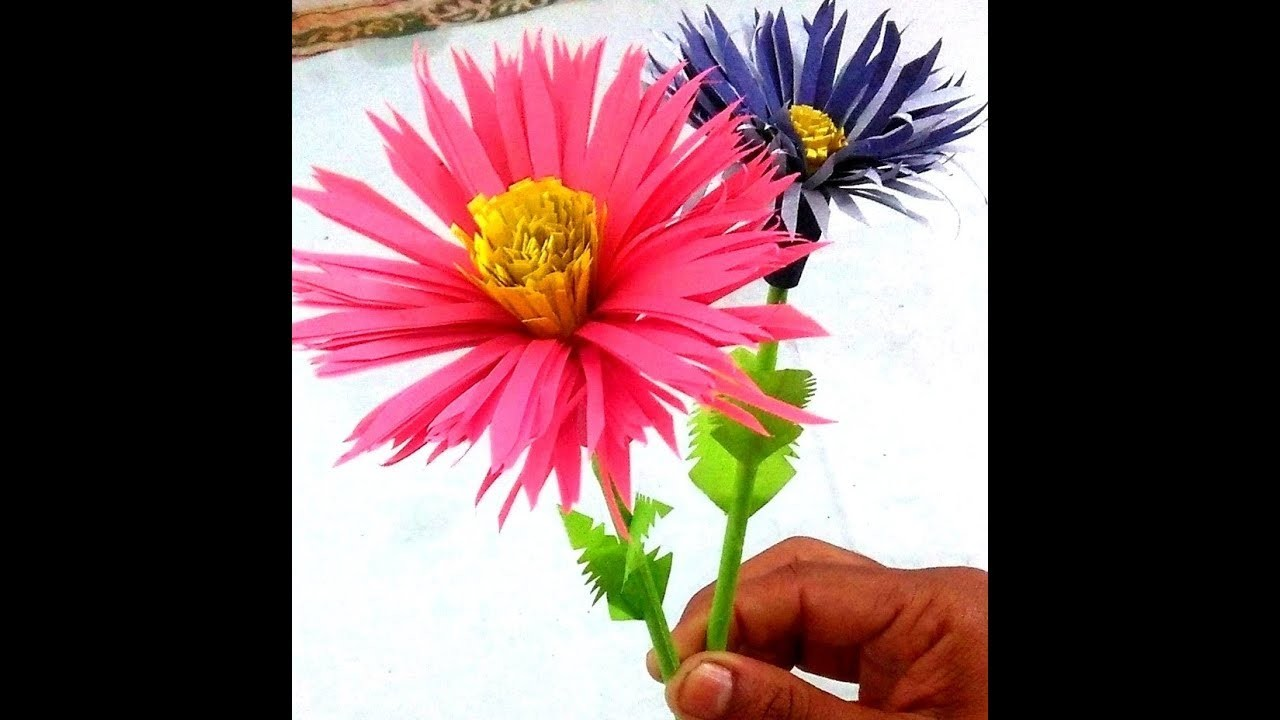 How To Make Aster Flower With Paper Making Paper Flowers Mrper