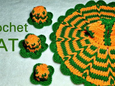 How to make Beautiful Crochet HAT for Kanha Ji (all sizes)