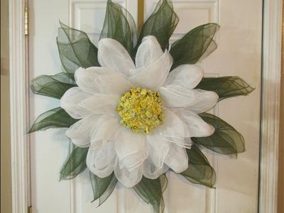 How To Make Carmen's Magnolia Flower Wreath