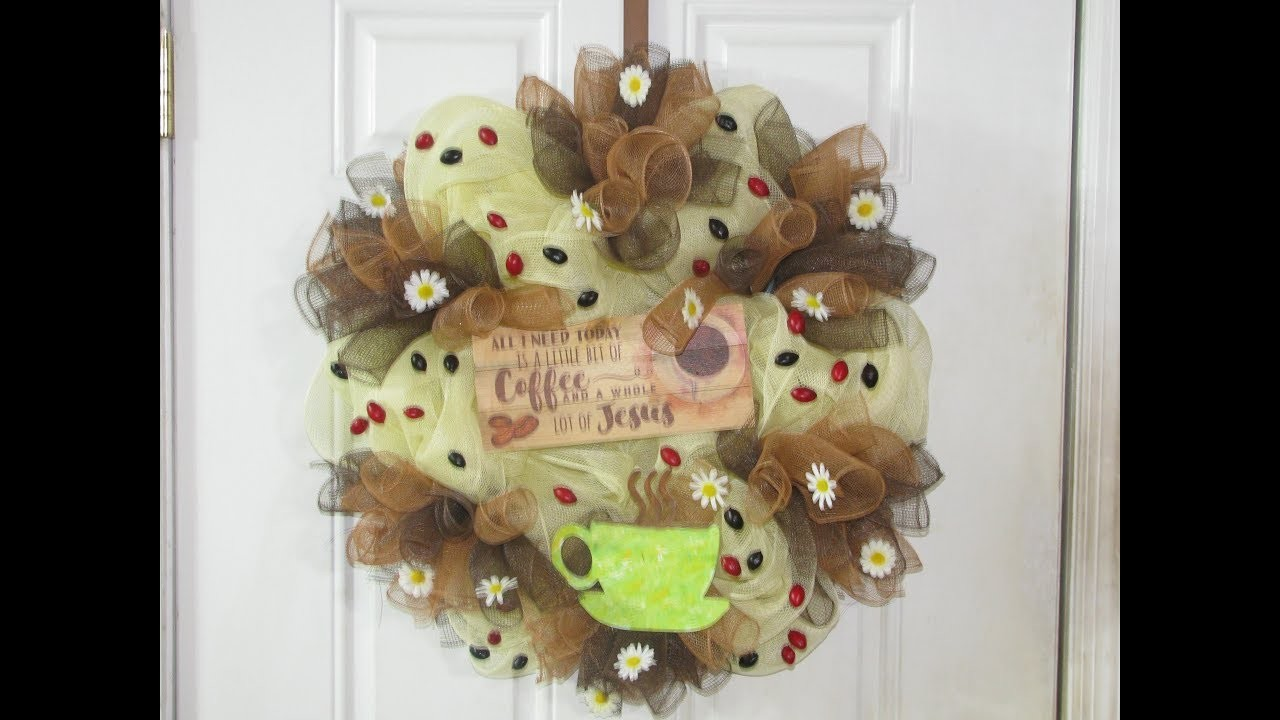 How To Make Carmen's Inspirational Coffee Wreath
