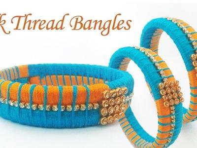 How To Make Designer Silk Thread Fancy Side Bangles in Tamil.How To Make Silk Thread Bangles