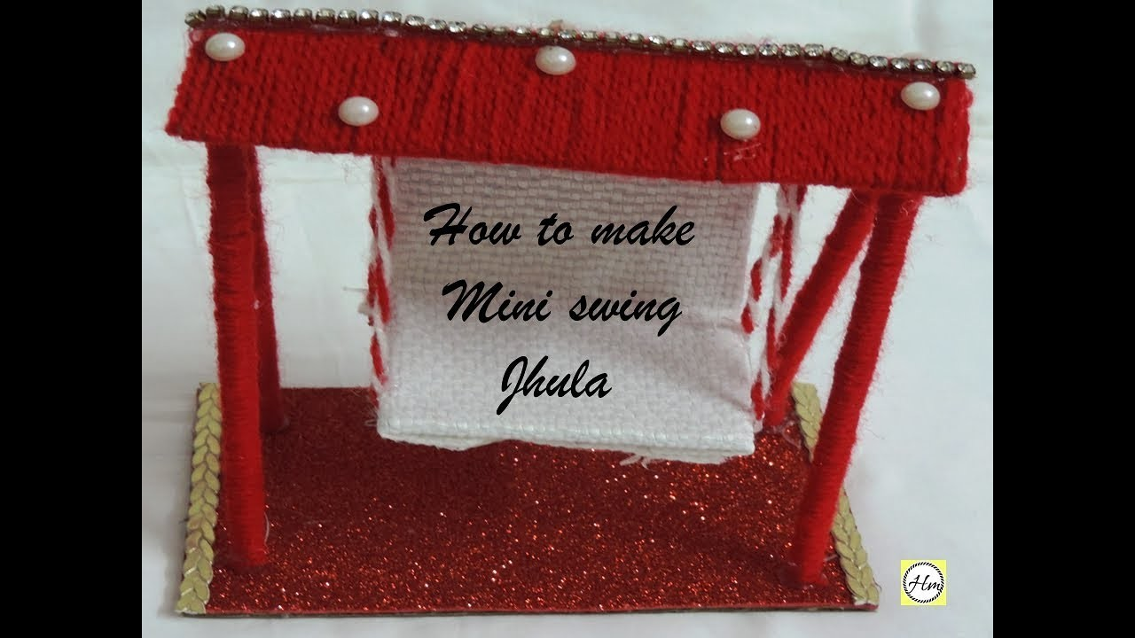 How to make DIY mini Swing jhula with waste material | best out of waste idea