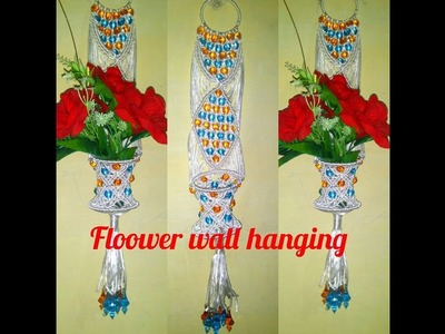 How to make flower pot wall hanging.  new design.