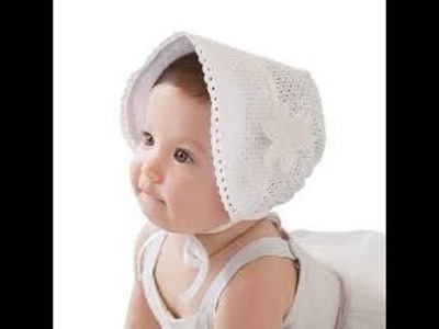 How to make full dress for 1years old girl part-1 (baby cap )
